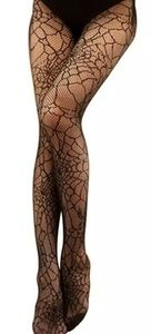 Spider Pantyhose Stockings Skinny Web Tights High